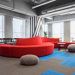 1500㎡混搭風辦公室休閑區設計圖