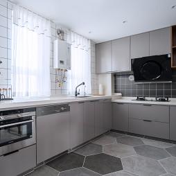 现代风二居厨房实景图片