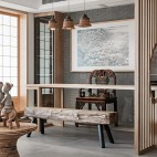 四居中式风格书房设计