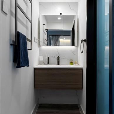 68㎡现代风二居卫浴设计