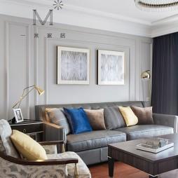135㎡现代美式客厅装饰画图