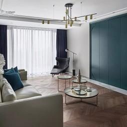 《Quetzal Green》现代风客厅设计图