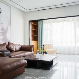 现代别墅客厅沙发设计实景图