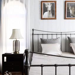 温情美式风卧室床头灯图片