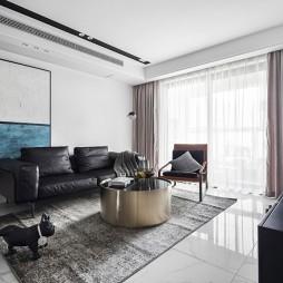 黑白系现代三居客厅设计图片