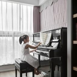 黑白系现代三居休闲区设计