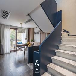 现代复式改造楼梯实景图片