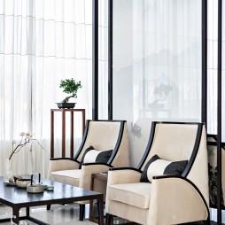 观山悦新中式风格售楼处洽谈处设计