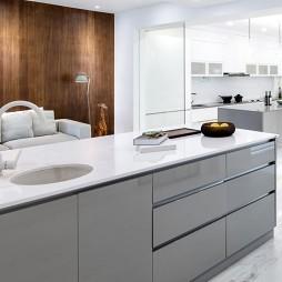 品质简约风厨房中岛台设计