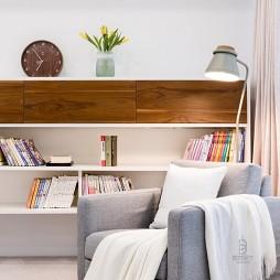 品质简约风卧室书架设计