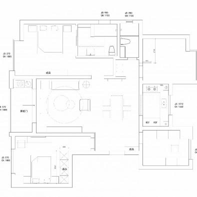 精致清新精装修房改造现代轻奢公寓
