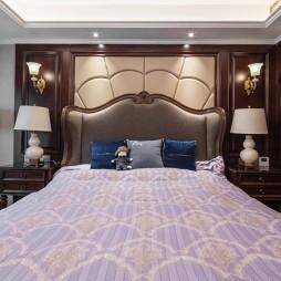 柔和美式风卧室床头灯图片