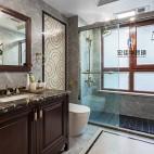 柔和美式风卫浴设计图