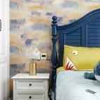 柔和美式风儿童房床头柜设计