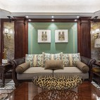 柔和美式风客厅沙发图片