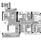 贵阳4居室,客餐厅很宽敞,色调很北欧!_3610069