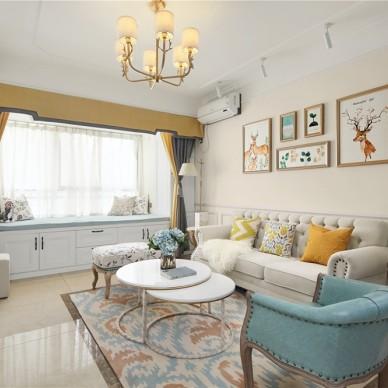 经典美式客厅飘窗设计