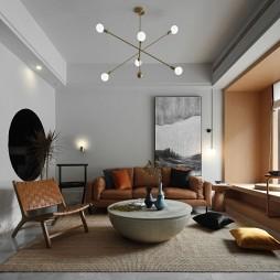 美式经典客厅实景图