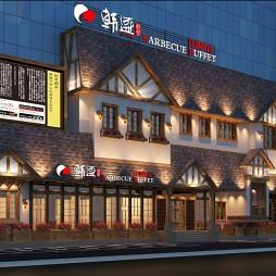 沈陽自助烤肉店設計 韓盛燒烤沈陽天時門店_3627297