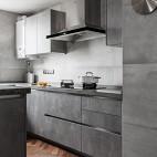 现代灰色系厨房橱柜设计