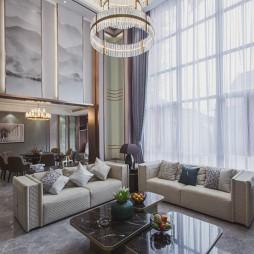 中式豪宅客厅吊灯图片