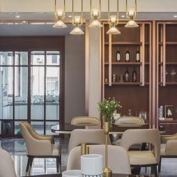 中式豪宅餐厅储物柜设计图