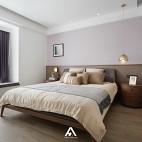 宁静现代风卧室实景图片