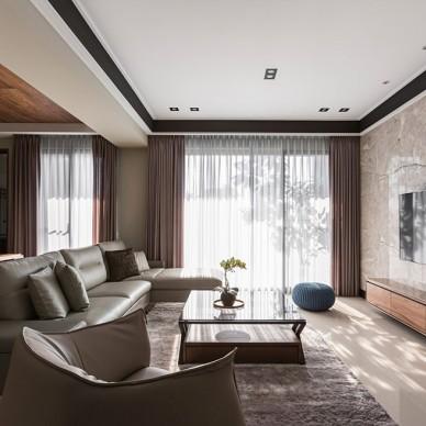 现代简约宁静暖宅—客厅图片