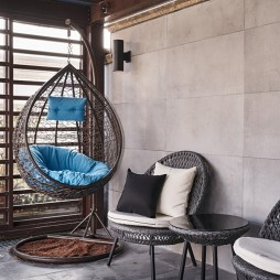 融合美式與現代的優雅輕奢美宅—陽臺圖片