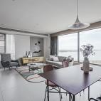 130平米現代簡約:客餐廳圖片