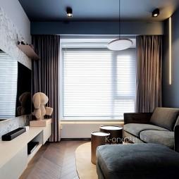 60平米现代简约—客厅图片