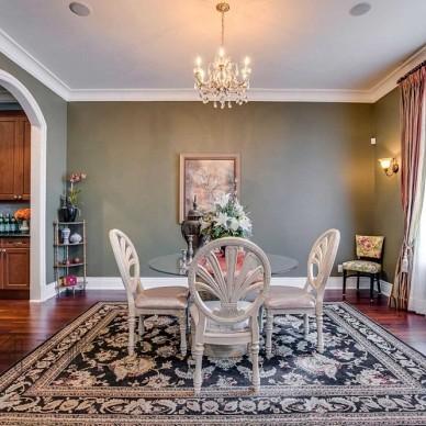 美式经典别墅豪宅—餐厅图片