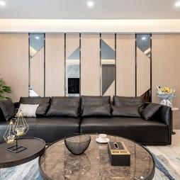 126平米現代簡約—客廳設計圖