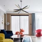 120平米混搭潮流—客厅设计图