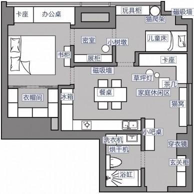 玩心重的設計師給50m2小家設計了間密室_3716555