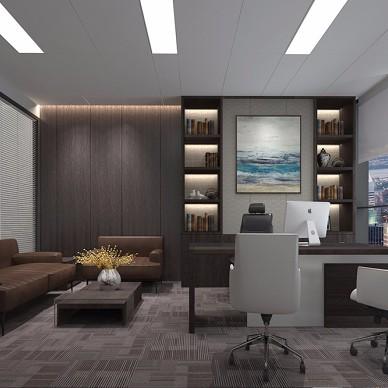 广州金融城绿地中心金融投资公司办公室装修_3718013