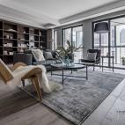 一野设计—140m² |有颜色的黑白灰——客厅图片