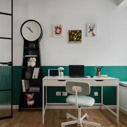 白色+原木配色的家——书房图片