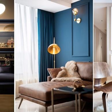 藍白撞色,這個重度樂高迷的家有點酷!_3796236