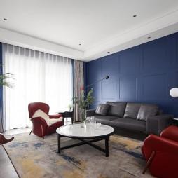 美式经典—水岸清华——客厅图片