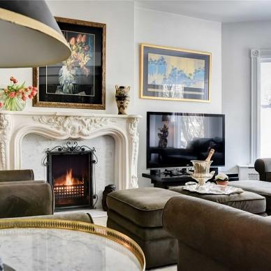 80后珠寶設計師,獨享400㎡法式浪漫——客廳圖片