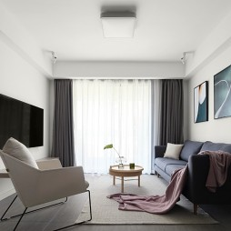 89平米现代简约—客厅图片