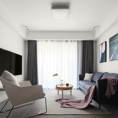 89平米現代簡約—客廳圖片