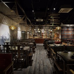 火锅空间设计【艺鼎新作】黑马火锅——就餐区图片