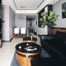 现代风格丨黑白灰方寸之间皆是生活——客餐厅图片