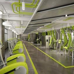 【吉米设计】健身房——器械区设计图