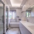 180平中式居所,古朴大气淡雅自然——卫生间图片