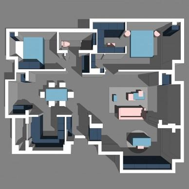 在空间的每个转角,都变出一抹布达拉宫红_3826442