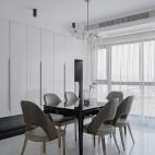 142平米现代简约餐厅设计图