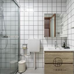 95平米日式风格——卫生间图片